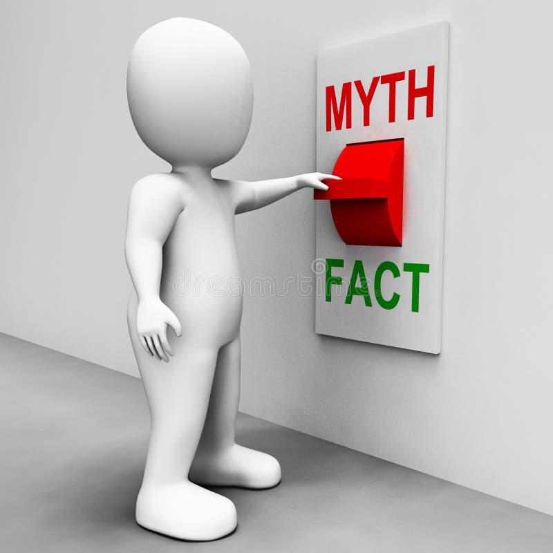 Fact mitu zmiana Pokazuje fact Lub mitologię ilustracja wektor