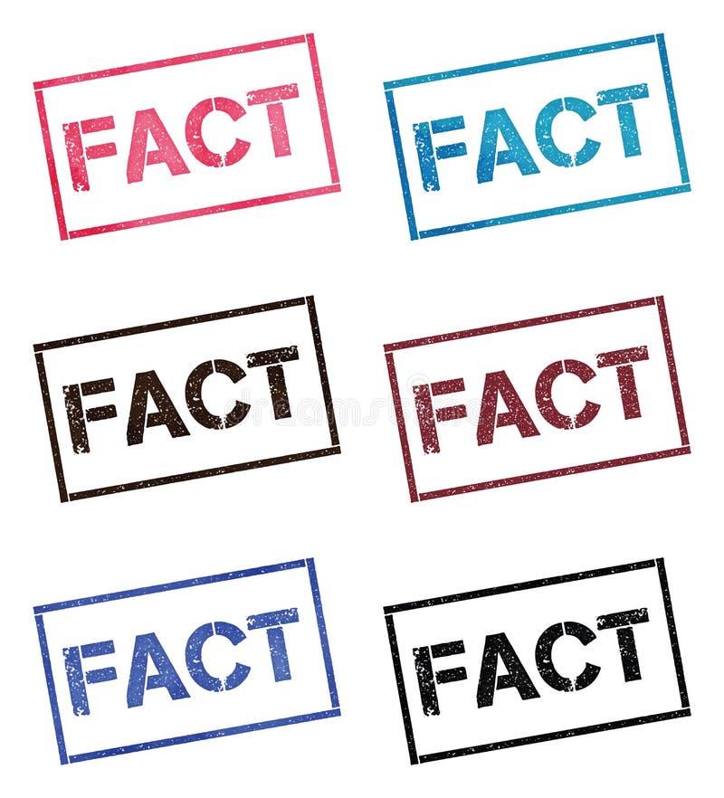 Fact prostokątna stemplowa kolekcja ilustracji