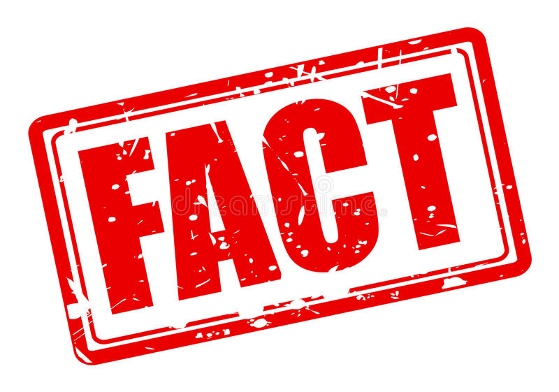 FACT red stamp text royalty free illustration
