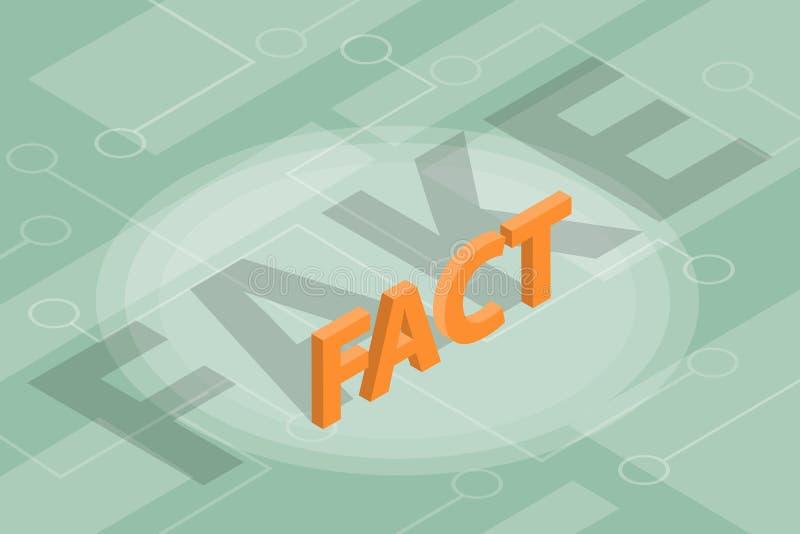 Fact vs sfałszowana nowej koncepci ilustracja z isometric royalty ilustracja