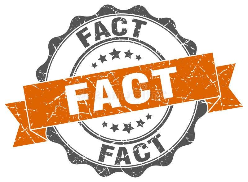Fact znaczek ilustracja wektor