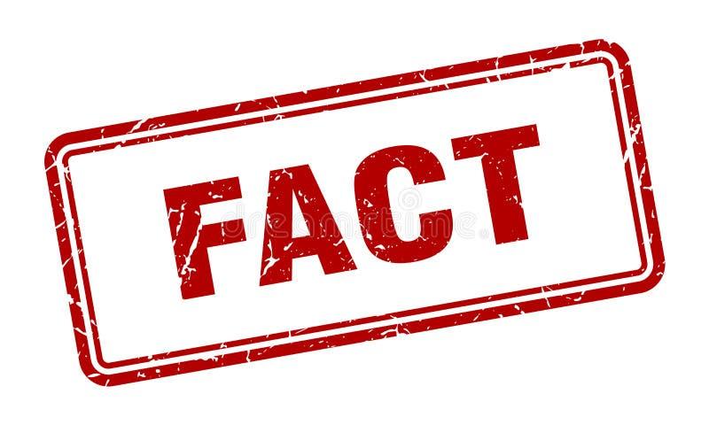 Fact znaczek royalty ilustracja