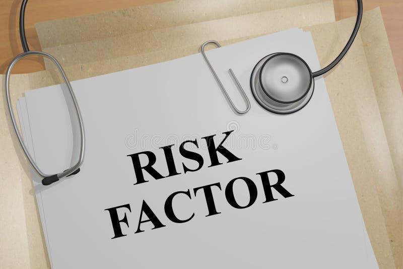 Factor de riesgo - concepto médico libre illustration