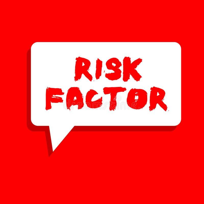 Factor de riesgo del texto de la escritura de la palabra Concepto del negocio para algo que sube la ocasión de una a que se convi libre illustration
