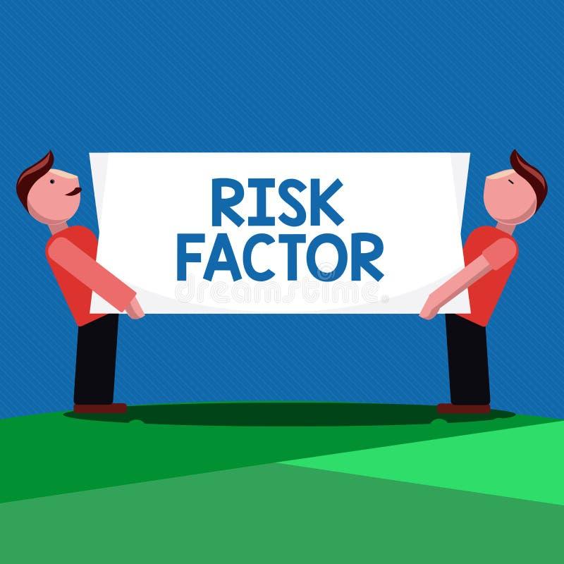 Factor de riesgo del texto de la escritura Significado del concepto algo que sube la ocasión de una demostración desarrollando un ilustración del vector