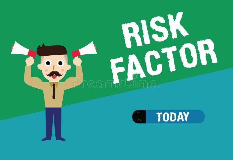 Factor de riesgo de la escritura del texto de la escritura Significado del concepto algo que sube la ocasión de una a que se conv ilustración del vector