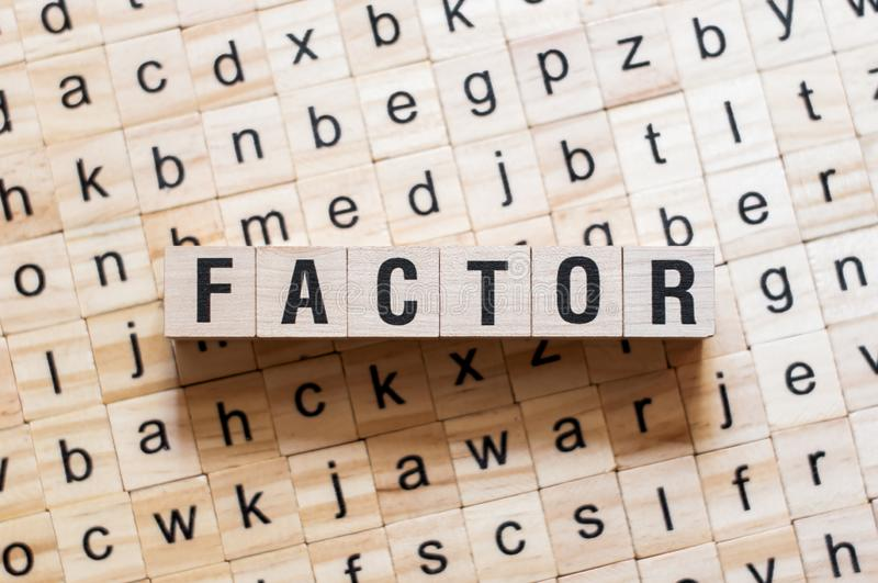Factor word concept royalty free stock image