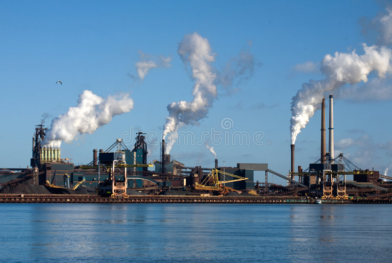 Factories In Amsterdam Royalty Free Stock Image