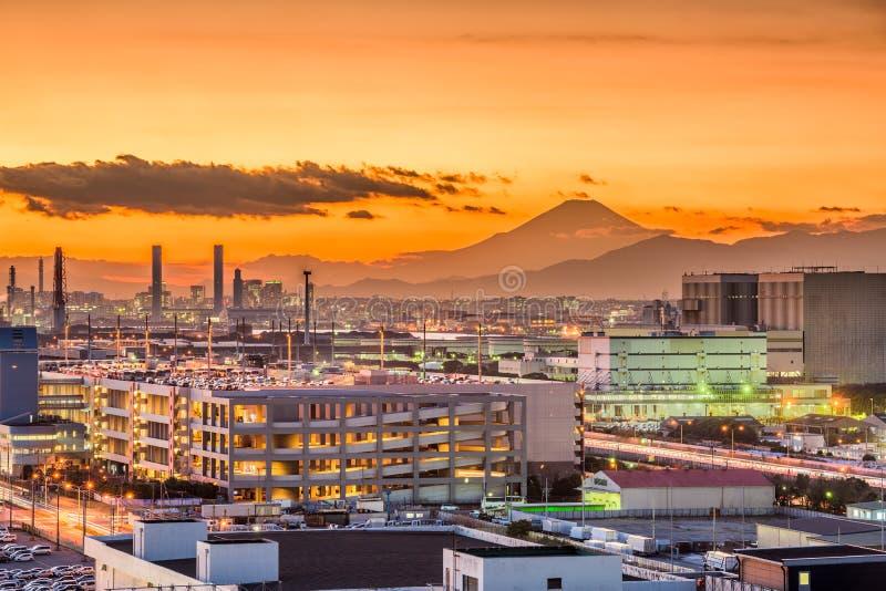 Factories in Japan royalty free stock image