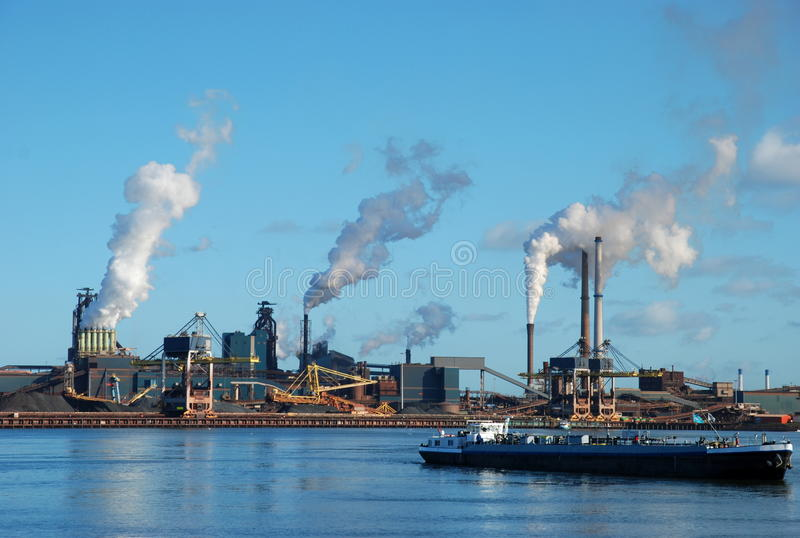 Factories near Amsterdam royalty free stock photo