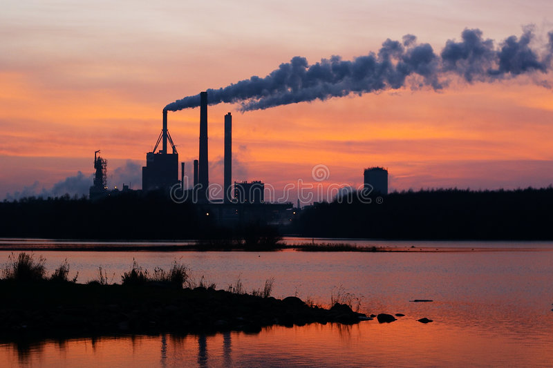 Download Factory stock image. Image of natural, evening, exhaust - 543981