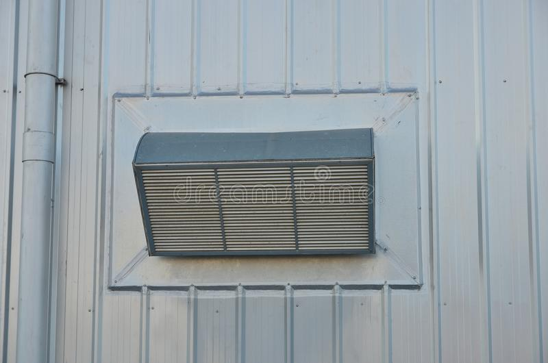 Factory air duct royalty free stock photography