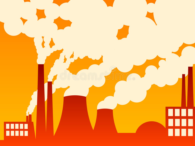 Download Factory Belching Out Pollution Stock Vector - Illustration of architecture, plant: 4798451