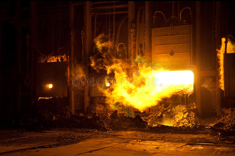 Factory blast furnace royalty free stock photo