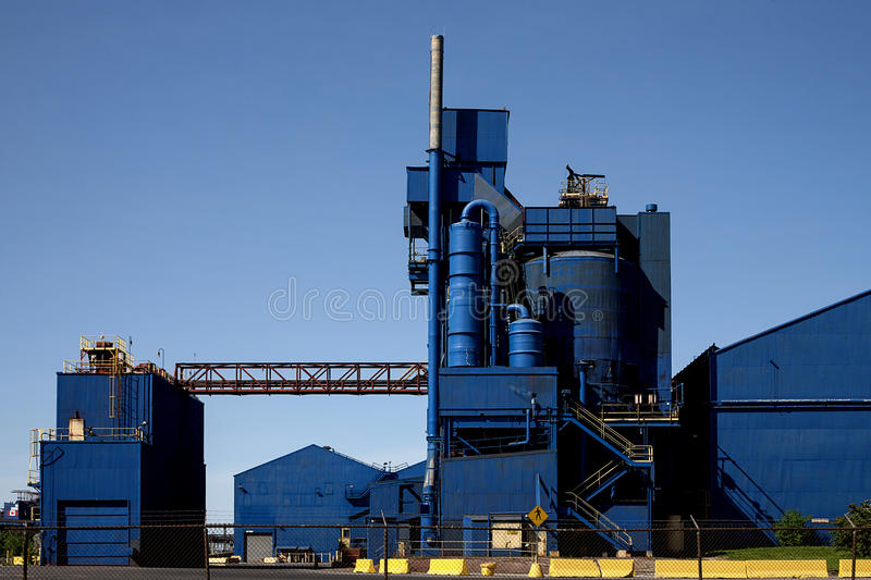 Blue Industrial Factory royalty free stock photography
