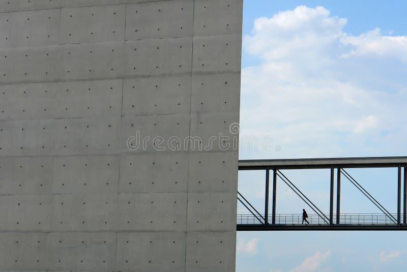 Factory bridge stock photography