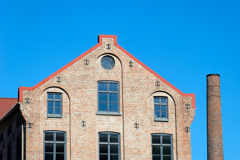 Download Factory Building And Chimney Stock Image - Image: 6667443