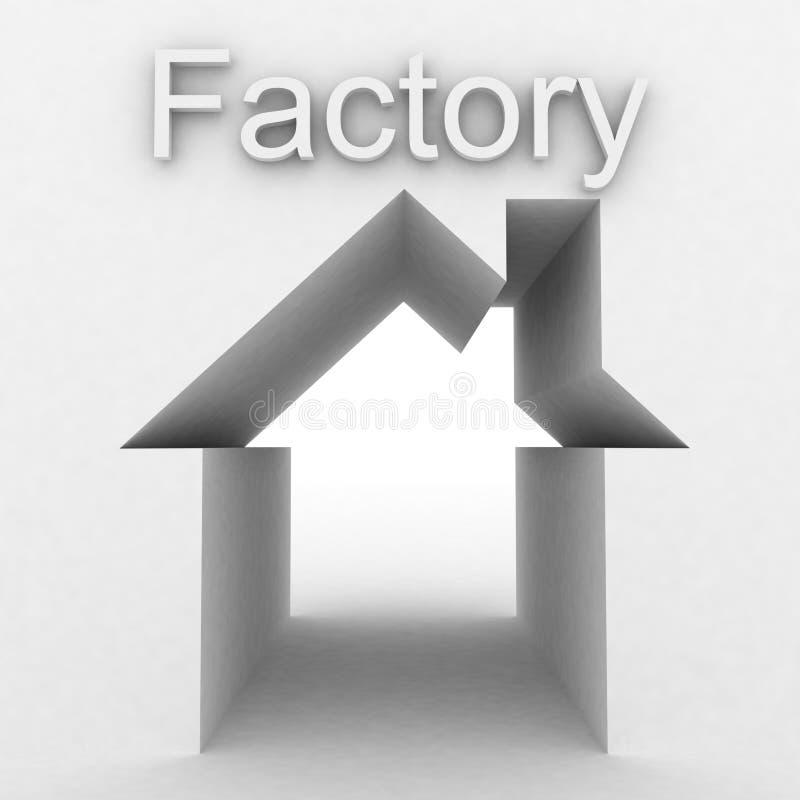 Factory building stock illustration