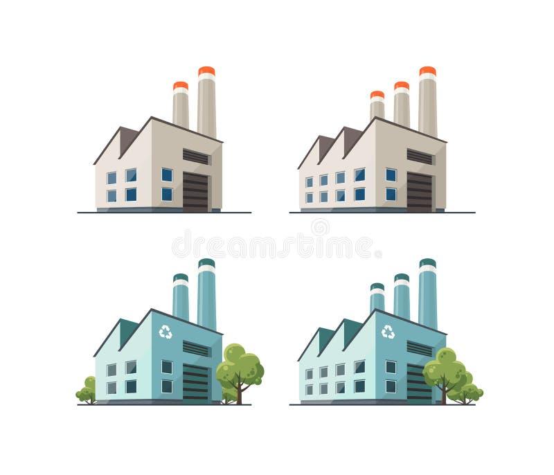 Factory building illustration royalty free illustration