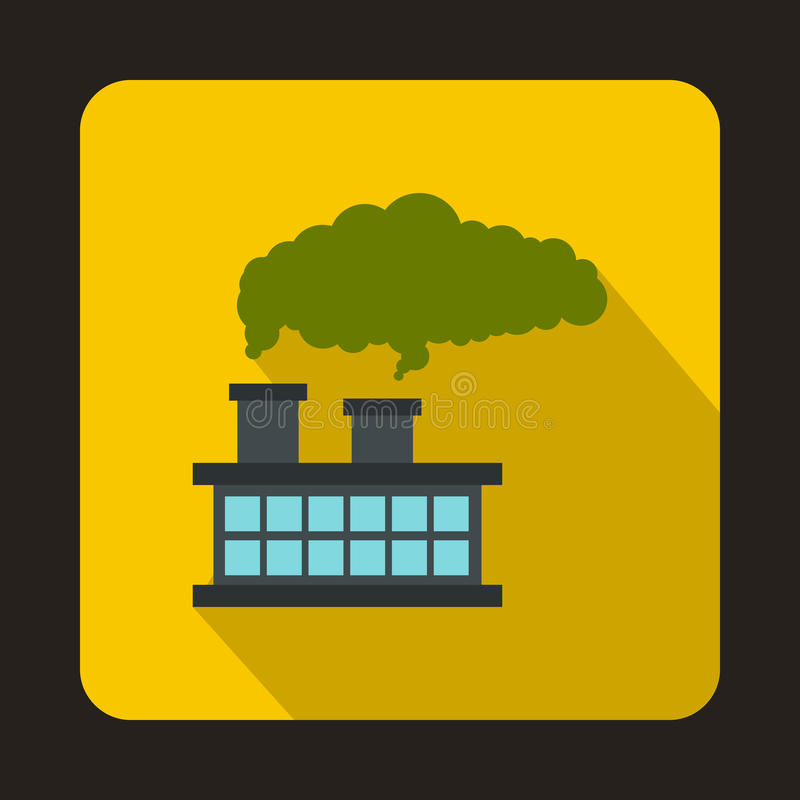 Factory building with smoking pipes icon vector illustration