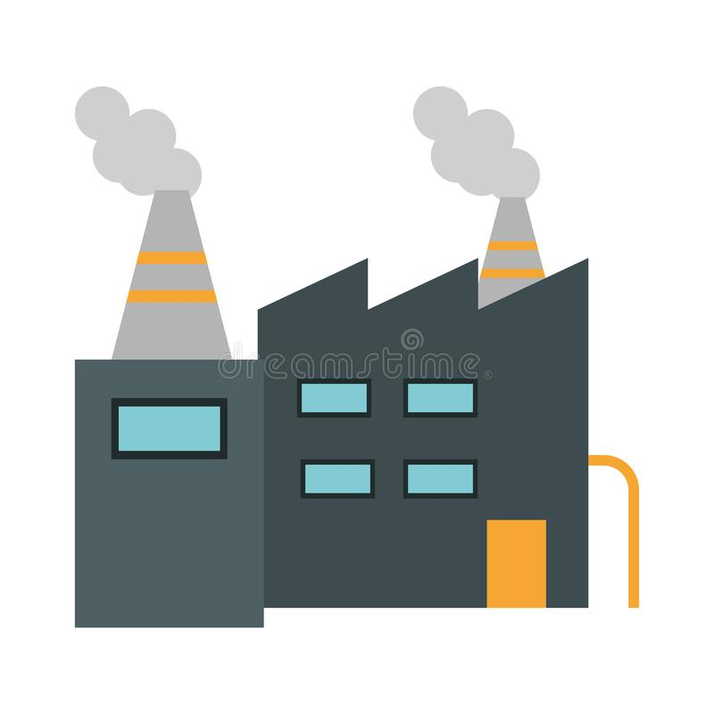 Factory building symbol stock illustration