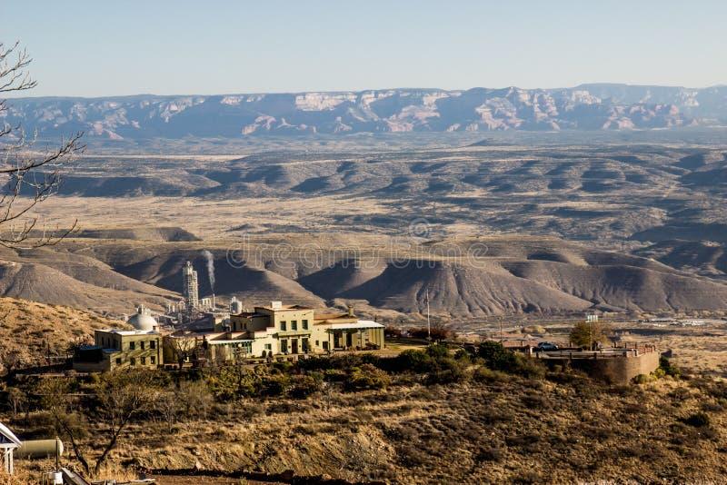 Factory & Buildings In Arizona High Desert. Factory & Buildings On Side Of Mountain In Arizona High Desert stock image