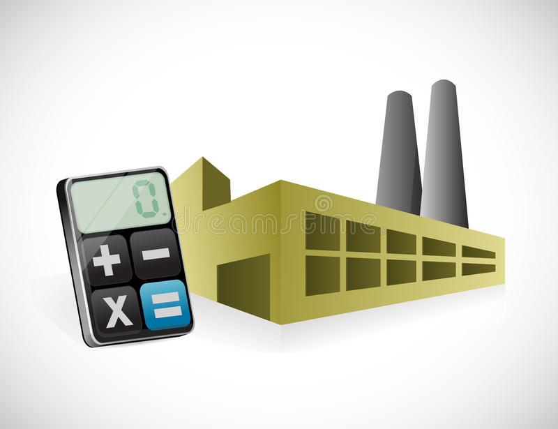 Download Factory And Calculator Illustration Design Stock Illustration - Illustration of calculate, environment: 39508902