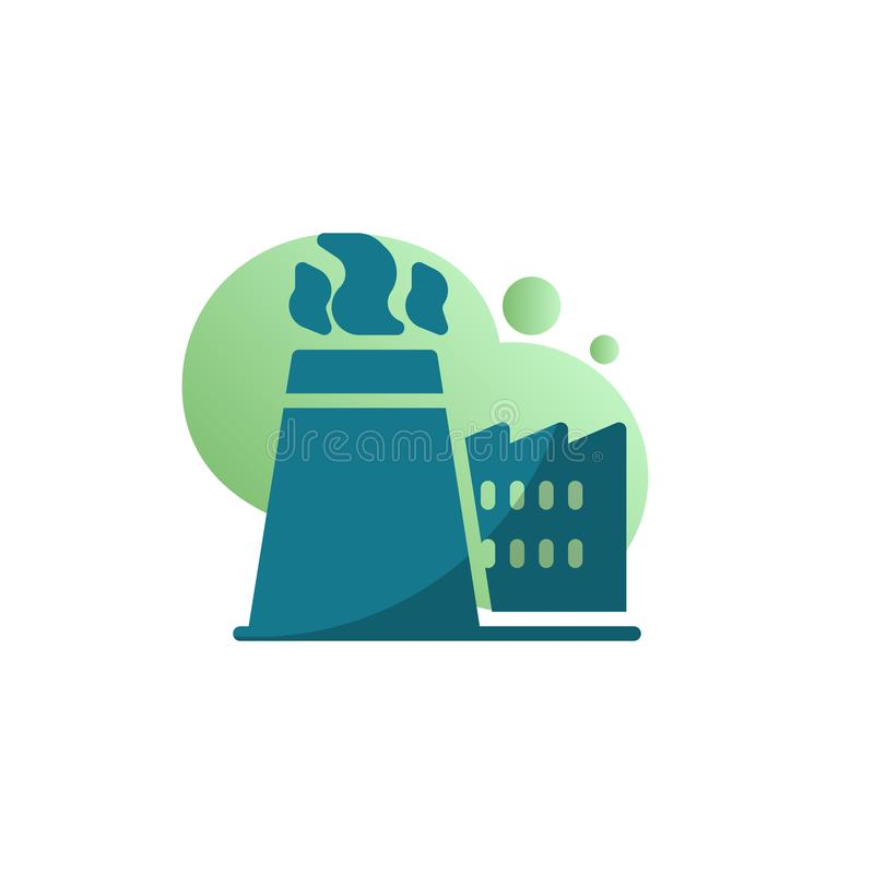 Factory chimney with smoke icon vector vector illustration