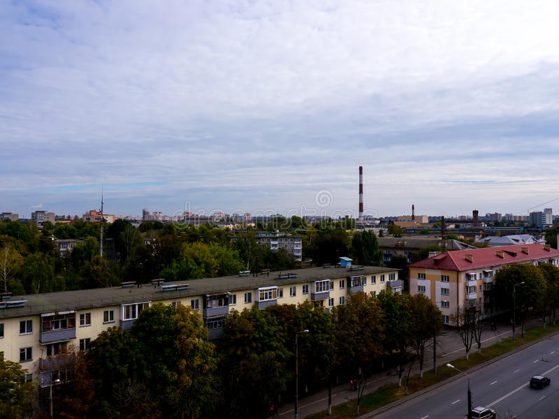 The Factory chimneys. stock photo