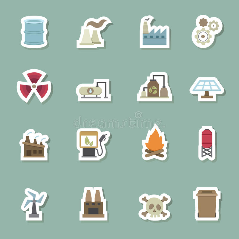Factory color icons vector illustration