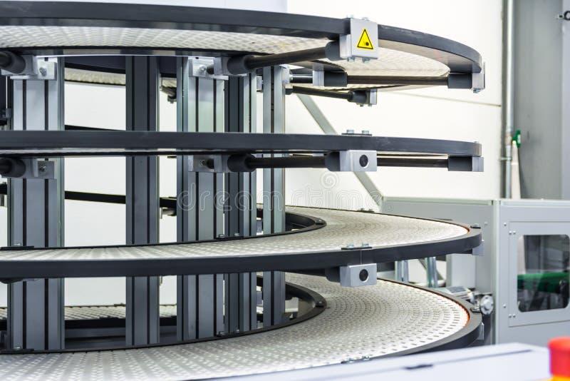 Factory Conveyor Belt Spiral Transportation Empty Idle Company I stockbild