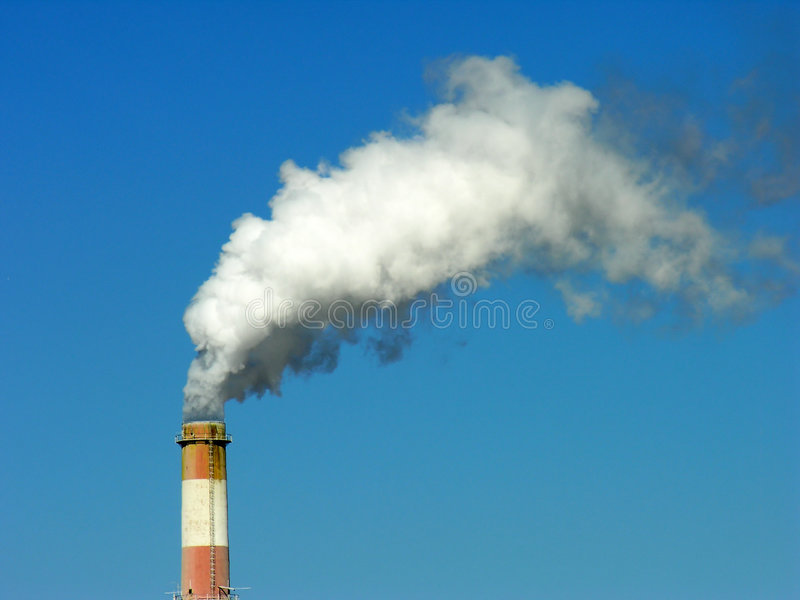 Factory cooling tower royalty free stock image