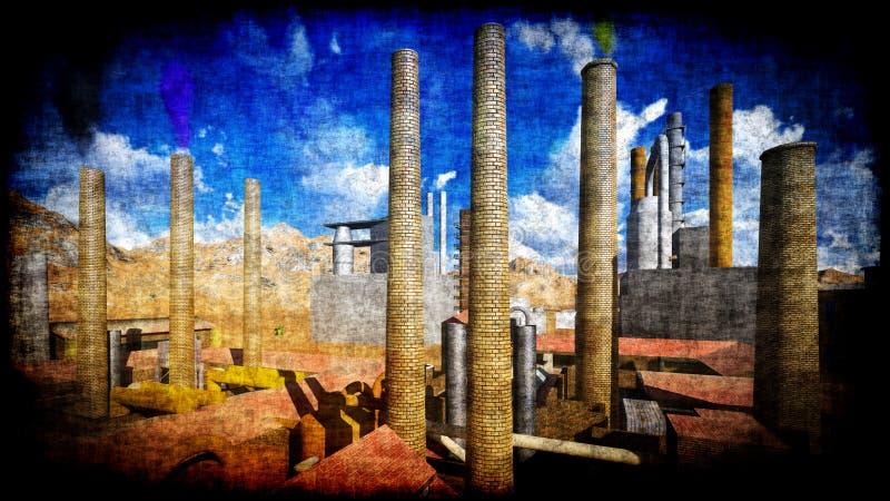 Factory on desert