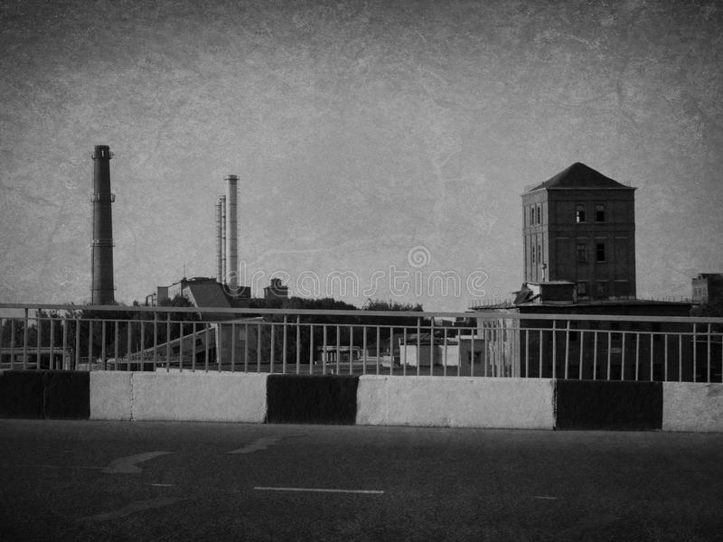 Factory district. Shot in Russia Kostroma fall and summer 2015 stock photos