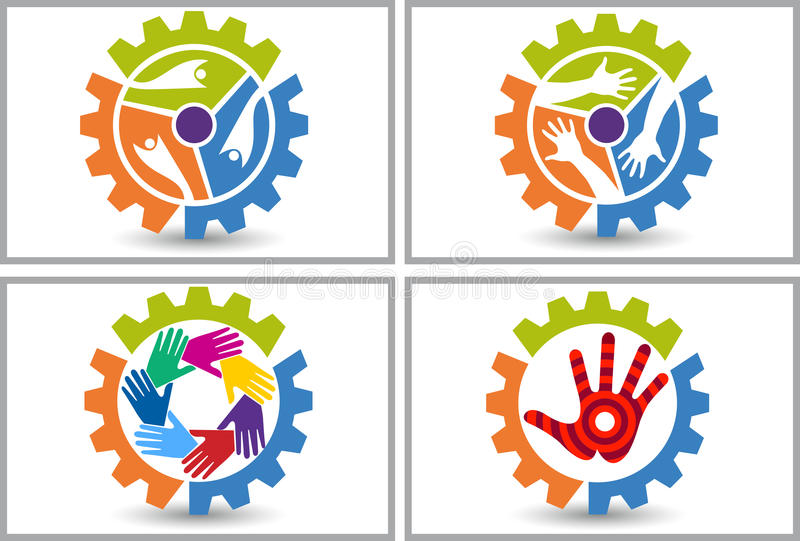 Factory friend logo stock illustration