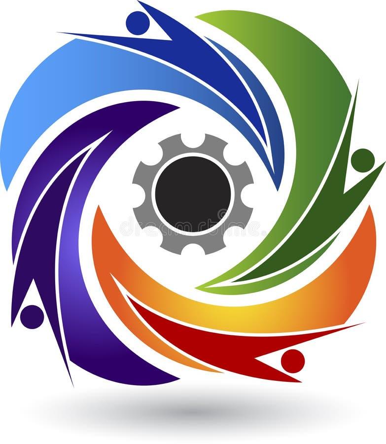 Factory friends logo vector illustration