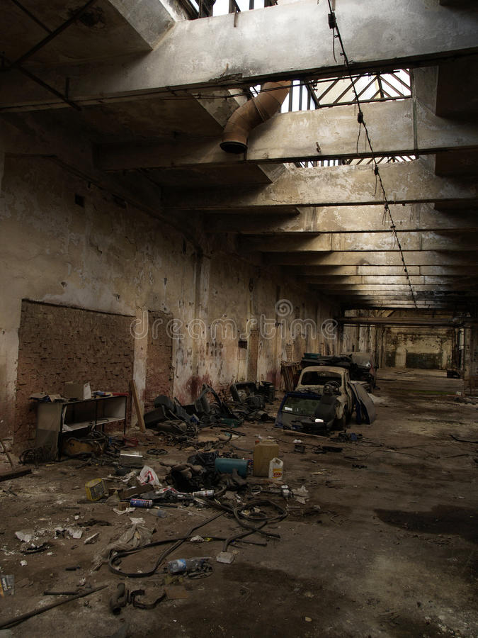 Factory hall royalty free stock photography