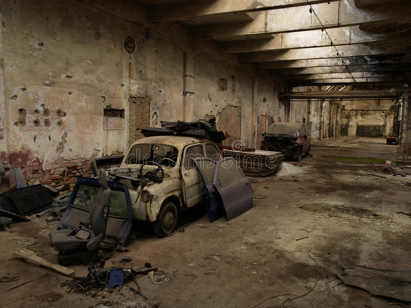 Factory hall stock photography