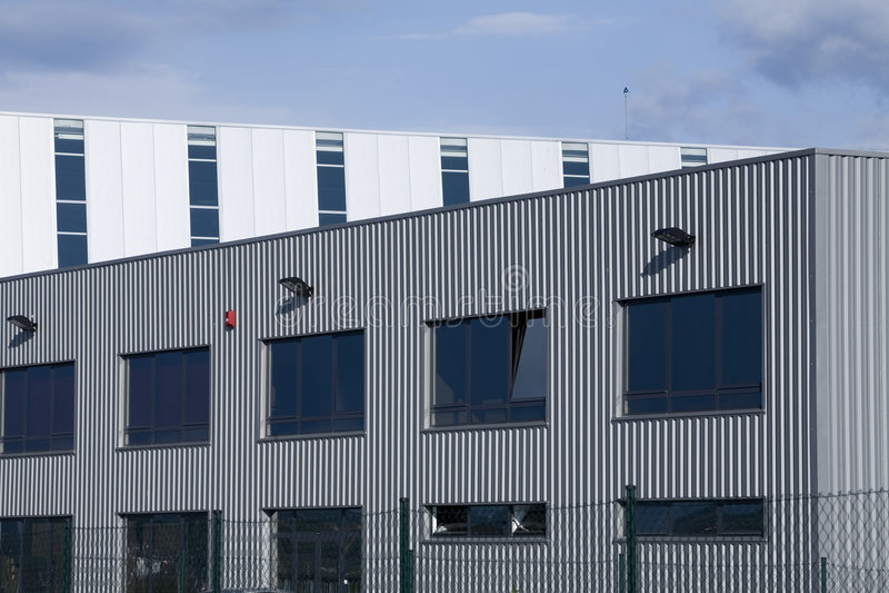 Factory hall stock photo