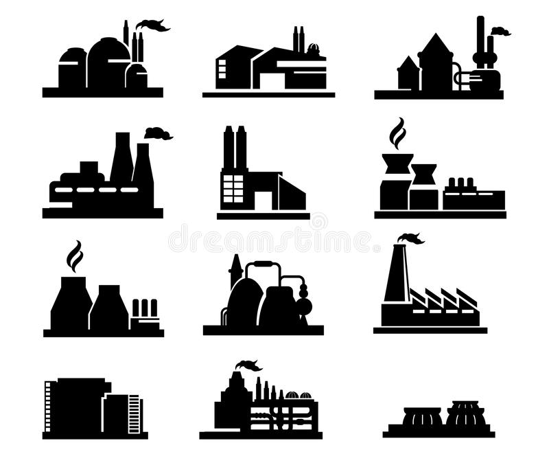 Factory icon stock illustration