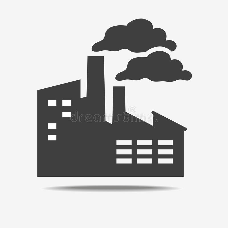 Factory icon isolated vector illustration
