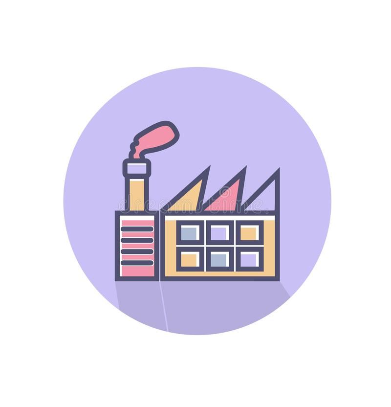 Factory icon. simple clean factory sign symbol -vector illustration stock illustration
