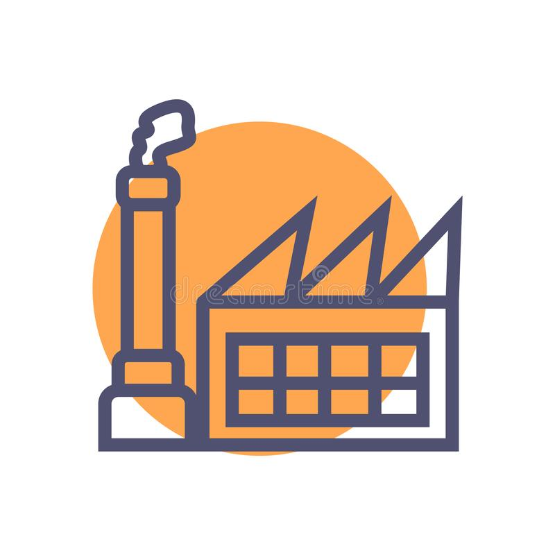 Factory icon. simple clean factory sign symbol -vector royalty free illustration