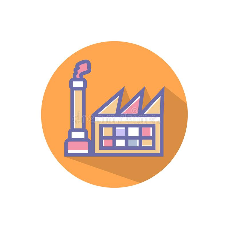 Factory icon. simple clean factory sign symbol -vector vector illustration