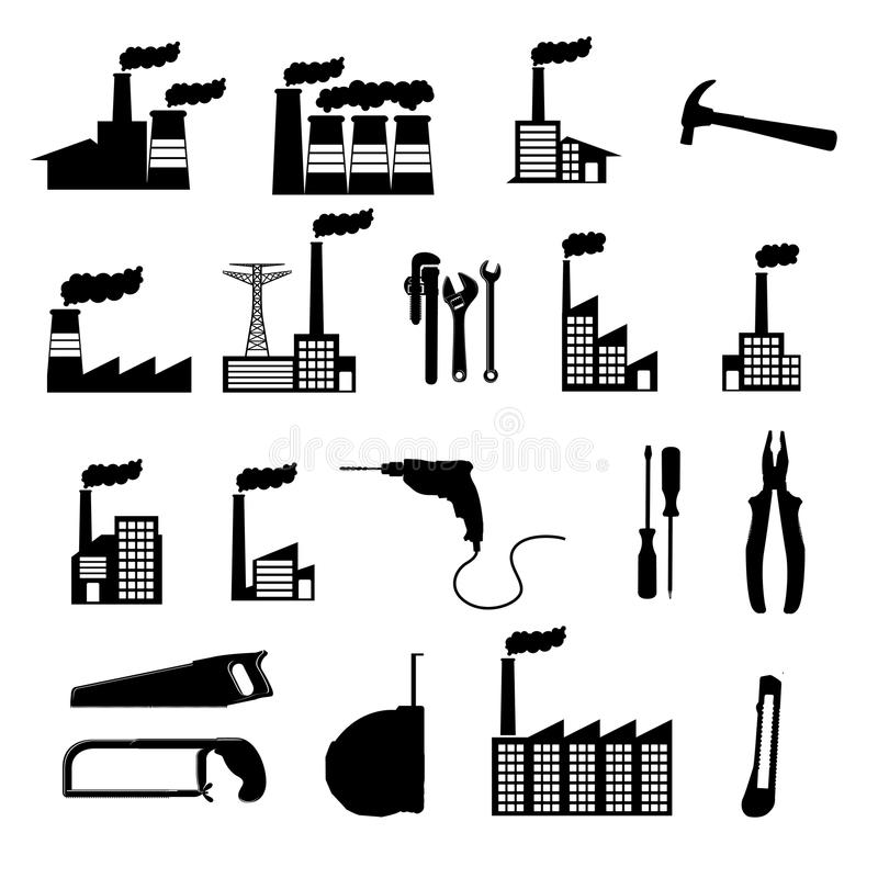 Factory icons vector illustration
