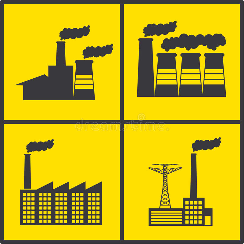 Factory icons stock illustration