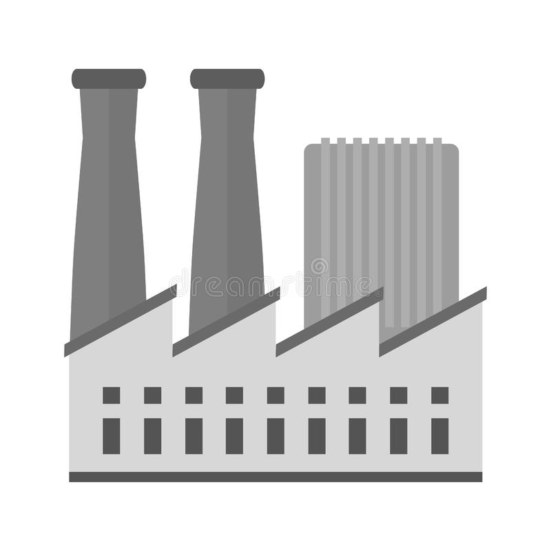 Factory III. Factory, building, plant icon image. Can also be used for Industrial Process. Suitable for mobile apps, web apps and print media vector illustration