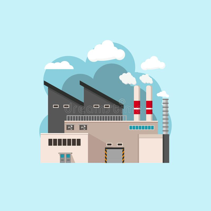 A factory industri flat design illustration simple and minimalist. A factory industry flat design illustration. simple and minimalist. available in eps 8 royalty free illustration