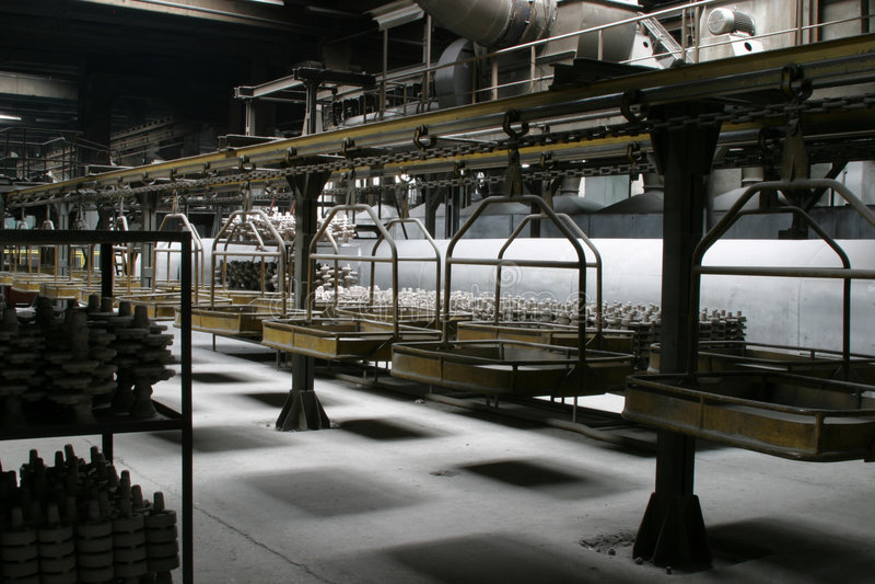 Download Factory interior stock image. Image of long, shadows, pillars - 1065301