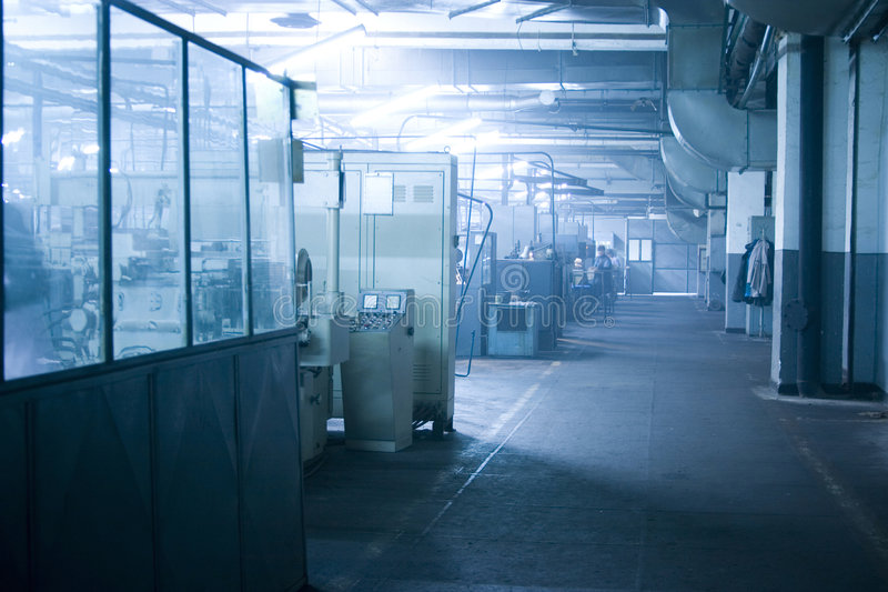 Factory interior royalty free stock photography